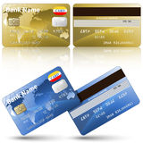 Credit cards, front and back view Stock Images