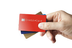 Credit Cards in Hand Stock Photos