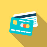 Credit cards icon in flat style. Credit cards in flat style. Vector illustration for web design Royalty Free Stock Photography