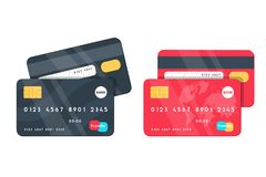 Front And Back Credit Card Template Stock Illustration ...
