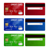 Credit cards, isolated, vector Royalty Free Stock Image
