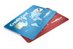 Credit cards. Isolated on white background Royalty Free Stock Image