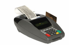 Credit cards machine Royalty Free Stock Photo