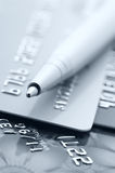 Credit cards and pen royalty free stock images