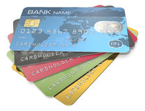 Credit Cards. Royalty Free Stock Photos