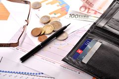 Credit cards and purse Royalty Free Stock Image