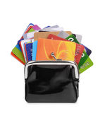 Credit cards in purse Stock Images