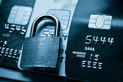 Credit cards security concept Royalty Free Stock Image