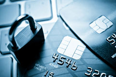 Credit cards security concept Stock Images