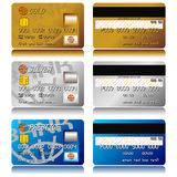 Credit cards set Stock Images