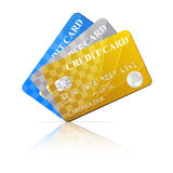 Credit Cards Set. Vector illustration Stock Photography