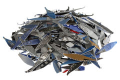 Credit cards shredded Stock Image