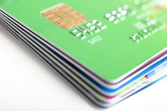 Credit Cards Stack Stock Photo