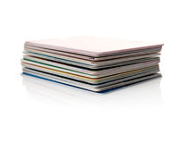 Credit cards stack Royalty Free Stock Photo