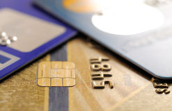 Credit cards. stock images