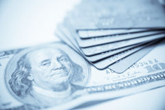 Credit Cards With US Dollar Stock Photo