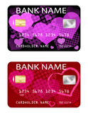 Credit cards, Valentines day theme Stock Photo