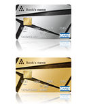 Credit cards. Vector illustration. Royalty Free Stock Photos