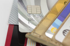 Credit cards in wallet Stock Photo