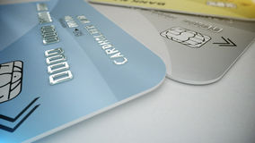 Credit cards on white Royalty Free Stock Photography