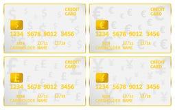 Credit Cards World Cash stock illustration