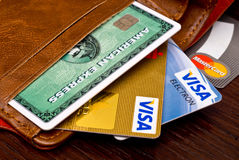 Credit cards Stock Image