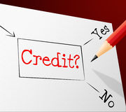 Credit Choice Represents Debit Card And Alternative Stock Photo