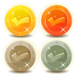 Credit Coins Set For Game Interface Stock Images