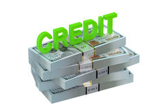 Credit concept with dollars Stock Image