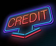 Credit concept. Stock Photography