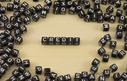The credit Royalty Free Stock Image