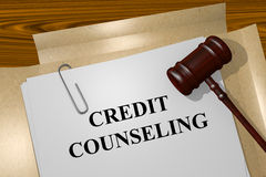 Credit counseling concept. Credit counseling Title On Legal Documents Royalty Free Stock Images