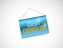 Credit counseling hanging banner Stock Photo