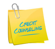 Credit counseling memo post illustration Royalty Free Stock Image