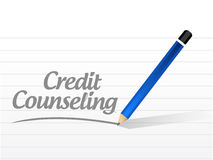 Credit counseling message illustration Stock Images