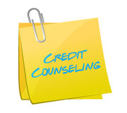 Credit counseling post illustration design Stock Photos