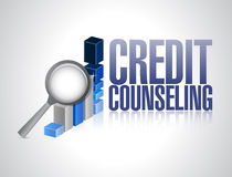 Credit counseling review illustration Stock Images