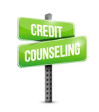 Credit counseling street sign illustration Stock Photo