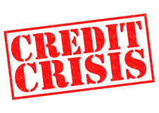 CREDIT CRISIS. Red Rubber stamp over a white background Royalty Free Stock Photo