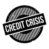 Credit Crisis rubber stamp. Grunge design with dust scratches. Effects can be easily removed for a clean, crisp look. Color is easily changed Stock Image