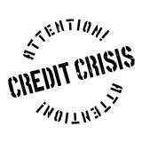 Credit Crisis rubber stamp. Grunge design with dust scratches. Effects can be easily removed for a clean, crisp look. Color is easily changed Stock Images
