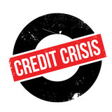 Credit Crisis rubber stamp. Grunge design with dust scratches. Effects can be easily removed for a clean, crisp look. Color is easily changed Stock Photos