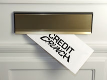 Credit Crunch. Every day the effects of the credit crunch is felt by people in their homes, usually through an unwelcome letter in the mail Royalty Free Stock Image