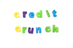 Credit Crunch Royalty Free Stock Photos