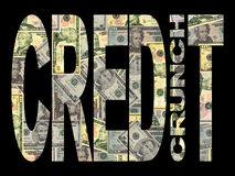 Credit Crunch with American dollars Royalty Free Stock Image