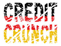 Credit crunch with German flag Stock Photos