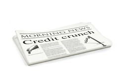 Credit crunch headline Stock Images