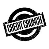 Credit Crunch rubber stamp. Grunge design with dust scratches. Effects can be easily removed for a clean, crisp look. Color is easily changed Stock Photos
