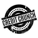Credit Crunch rubber stamp. Grunge design with dust scratches. Effects can be easily removed for a clean, crisp look. Color is easily changed Royalty Free Stock Photos