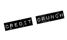 Credit Crunch rubber stamp. Grunge design with dust scratches. Effects can be easily removed for a clean, crisp look. Color is easily changed Royalty Free Stock Photography